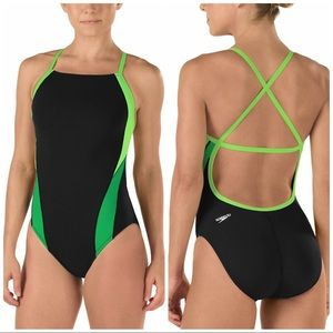 Speedo Endurance+ Launch Splice Crossback swimsuit
